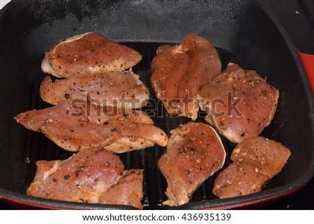 Pork Loin Steak - stock photo