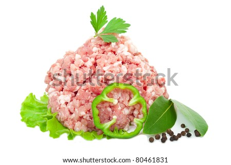 Pork mince - stock photo