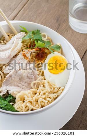 pork noodle - stock photo