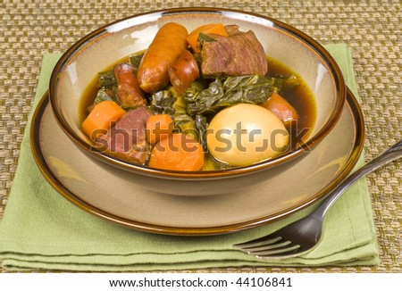 Pork Stew with Sausages and Vegetables