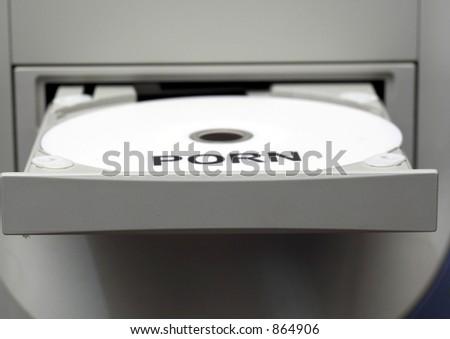 Porn DVD in Reader - stock photo