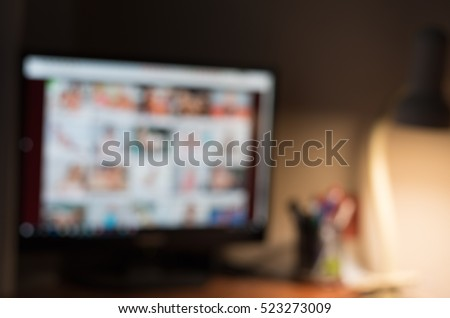 Porn site. Adult content only. Online porn concept. Sex and xxx sites. xxx porn site theme creative abstract blur background with bokeh effect. porn site theme