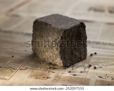 "porphyry, stone pavement, called in Italian ""St. pietrino"" - stock photo"