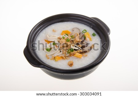 Porridge. healthy porridge cooked with sweet potato. For diet and nutrition, healthy eating and lifestyle concepts.