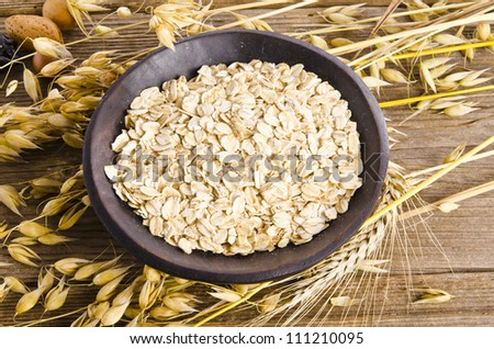 porridge oats - stock photo