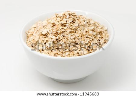 Porridge on a white background - stock photo