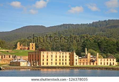 Port Arthur convict colony, Tasmania, Australia - stock photo