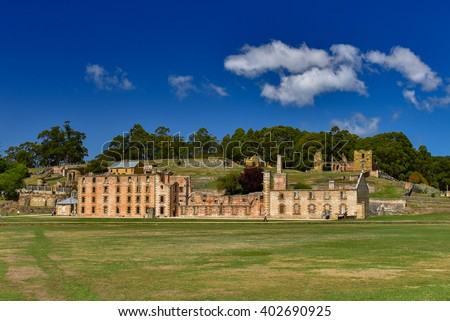Port Arthur in Tasmania, Australia - stock photo