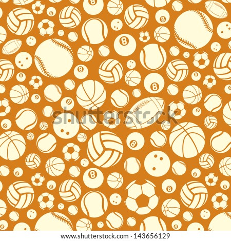 port balls background (silhouettes of sport balls, sport balls abstract texture) - stock photo