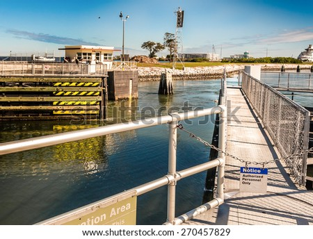 Port Canaveral Locks Eastern Side - stock photo