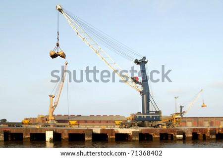 port crane - stock photo
