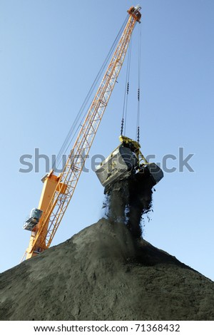port crane - stock photo