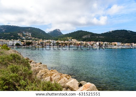 Port d'Andratx, Mallorca - old village in bay with beautiful coast