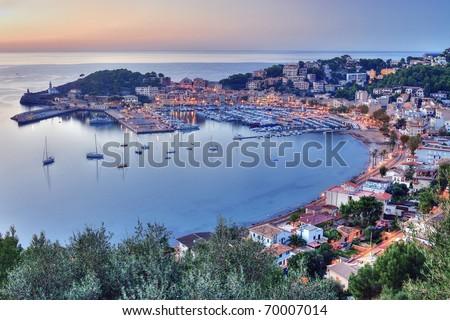 Port de Soller, Majorca - stock photo