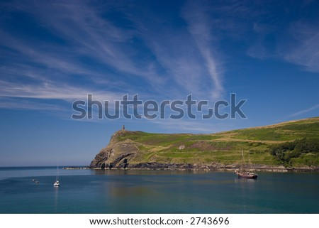 Port Erin in the Isle of Man - stock photo