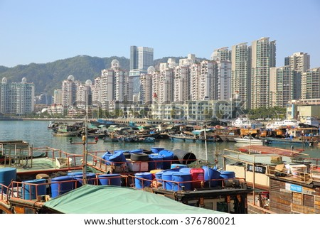 Port for fishing boats in China
