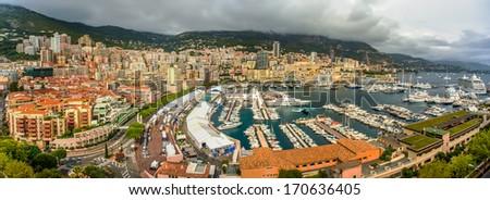 Port Hercule, The heart of Monaco. - stock photo