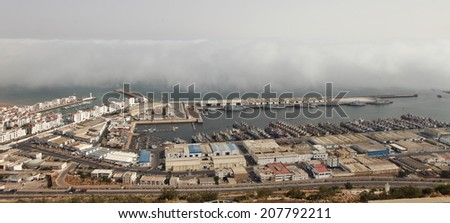 Port in Agadir, Morocco  - stock photo