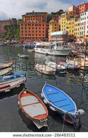 Port in Camogli - stock photo