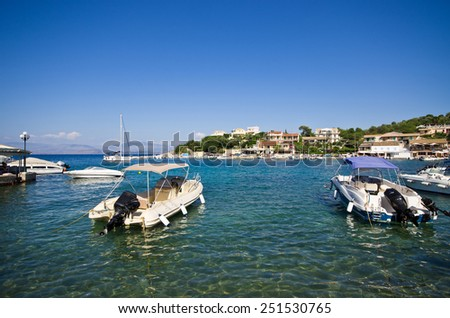 Port in Kassiopi village - Corfu island, Greece