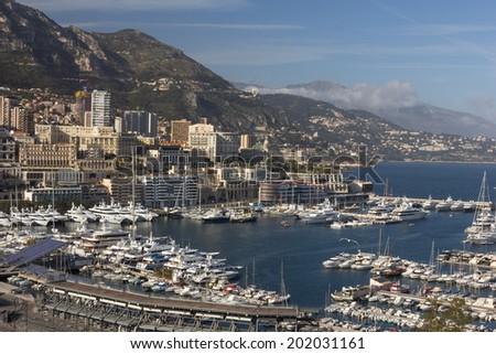 port in Monaco  - stock photo