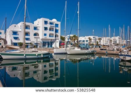 Port in Monastir, Tunisia - stock photo
