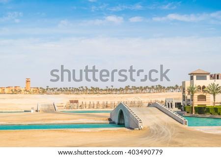 Port in Port Ghalib, Red Sea Riviera, Egypt - stock photo