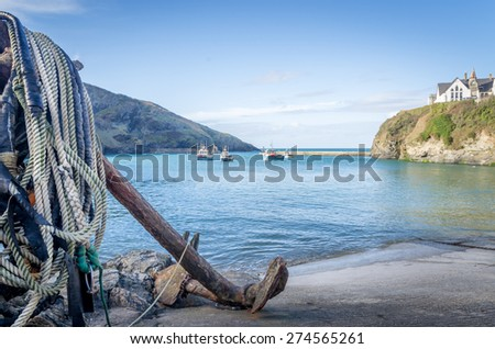 Port Isaac in cornwall england uk. Stunning Harbour location. - stock photo