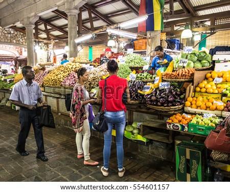 Port louis mauritius november 18 2016 stock photo edit now 554601157 shutterstock - Mauritius market port louis ...