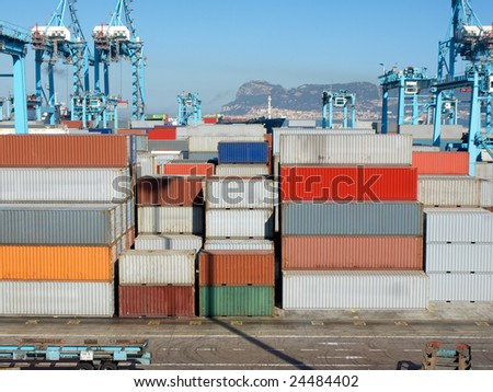Port of Algeciras - stock photo