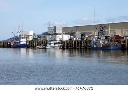 Port of Astoria & fishing boats, Oregon. - stock photo