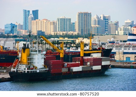 Port of Fort Lauderdale, Florida - stock photo