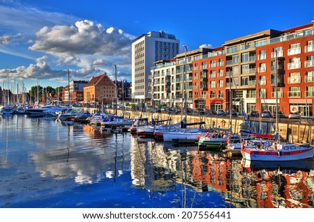 Port of Gdansk.HDR-high dynamic range - stock photo