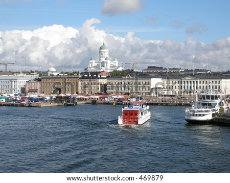 Port of Helsinki - stock photo