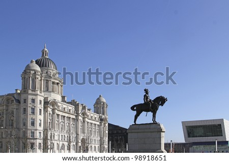 Port of Liverpool Buildings. - stock photo