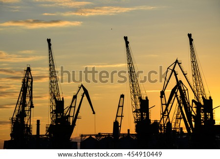 Port of Odessa at sunset