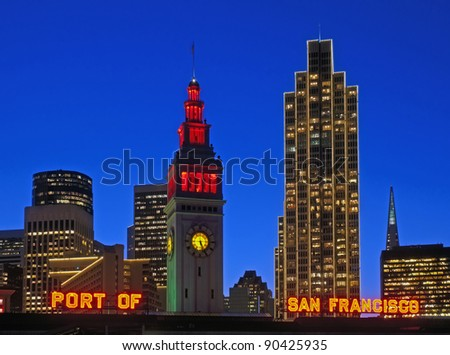 port of san francisco - stock photo
