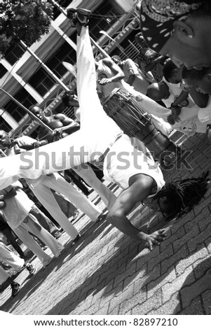 PORT OF SPAIN - AUGUST 1: Celebrating Emancipation Day which commemorates the abolition of Slavery August 1, 2011 in Port Of Spain, Trinidad & Tobago. - stock photo