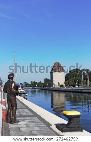 Port of Ueckermuende - stock photo
