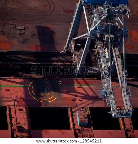 Port shipping - stock photo