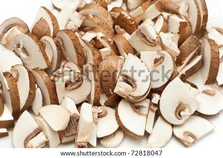 sliced portabella mushrooms  Sliced mushrooms Stock Photos, Illustrations,