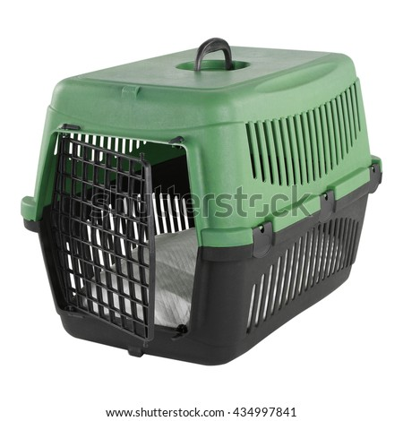 PORTABLE ANIMAL CAGE - stock photo
