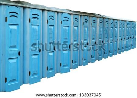 Portable bathroom,toilets. - stock photo