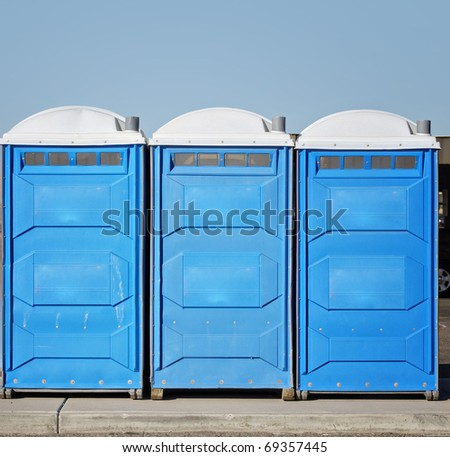 Portable bathroom,toilets.  ( Major elements of the original design have been altered. ) - stock photo