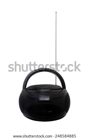 Portable CD player - stock photo