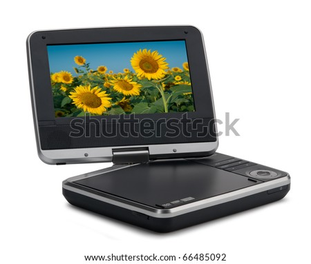 Portable DVD player - stock photo