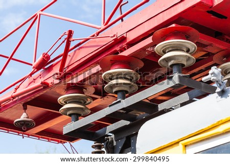 portable electric power plant the railway closeup