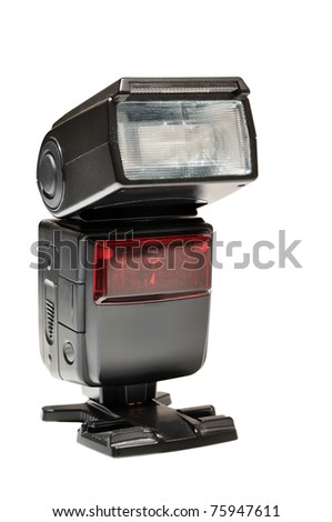Portable flash standing, clipping path