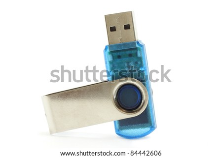 Portable flash usb drive - stock photo