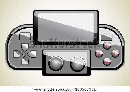 Portable game console - stock photo